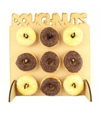 Laser Cut 6mm Quality Flat packed 'Doughnuts' Wall, Display Stand