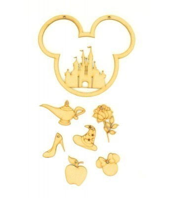 Laser Cut Magic Castle Mouse Head Dream Catcher with Hanging Charm Shapes