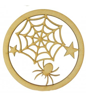 Laser Cut Mini Dream Catcher Frame with Superhero Spider Web Shape Inside