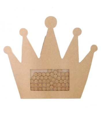 Freestanding MDF Childrens Reward Chart Drop Box Large Princess Crown - Face Tokens