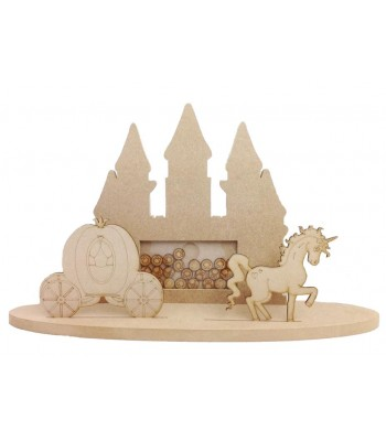Freestanding MDF Princess Castle Scene Childrens Reward Chart Drop Box - Face Tokens