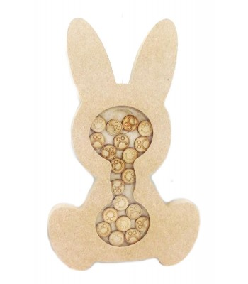 Freestanding MDF Small Rabbit Childrens Reward Chart Drop Box - Face Tokens
