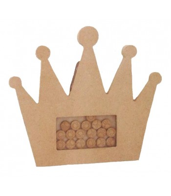 Freestanding MDF Childrens Reward Chart Drop Box Princess Crown - Face Tokens