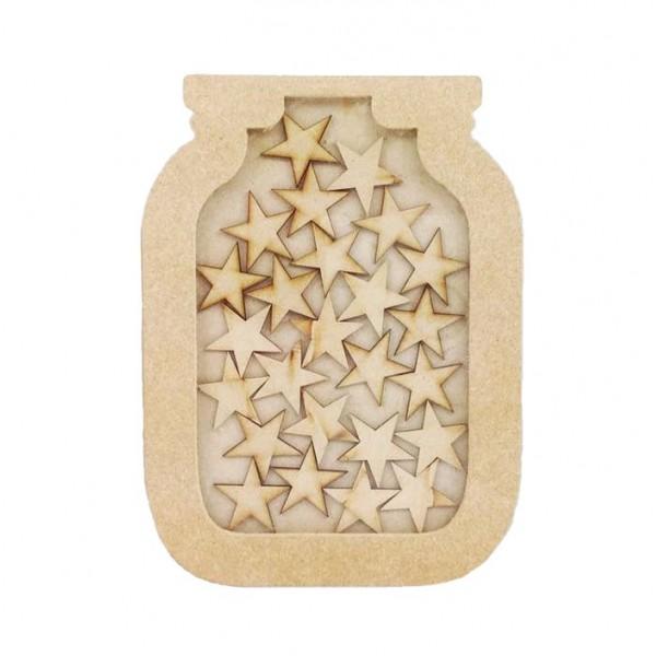 Freestanding Mdf Small Reward Chart Jar Drop Box Star Tokens