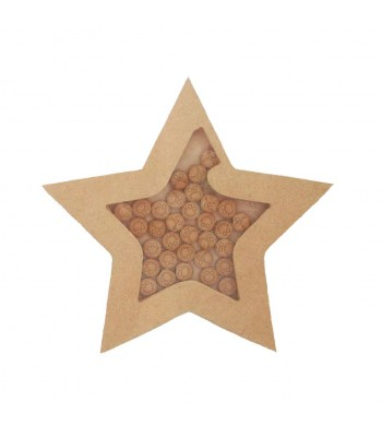 Freestanding MDF Childrens Reward Chart Drop Box Star - Face Tokens