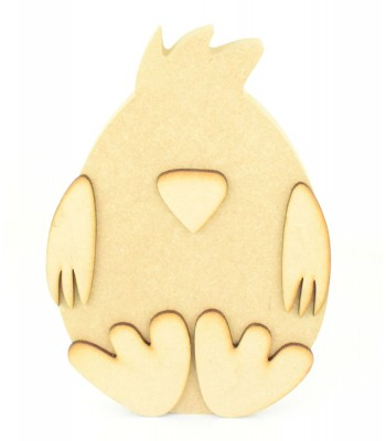 18mm Freestanding MDF 3D Cute Sitting Easter Chick - Options Available