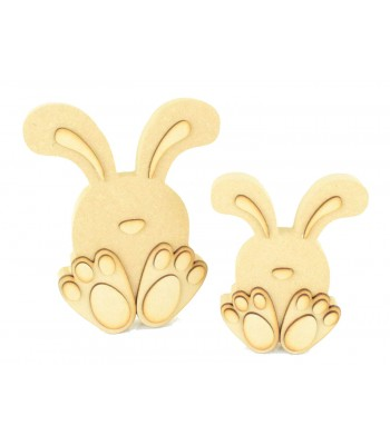 Freestanding 3D Cute Sitting Easter Rabbits - Options Available