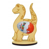 6mm Dinosaur Kinder Egg Holder on a Oval Stand