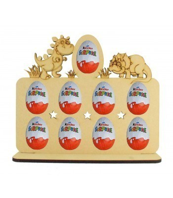 6mm Dinosaur Themed Plaque Kinder Egg Holder on a Stand