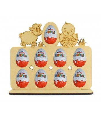 6mm Easter Themed Plaque Kinder Egg Holder on a Stand