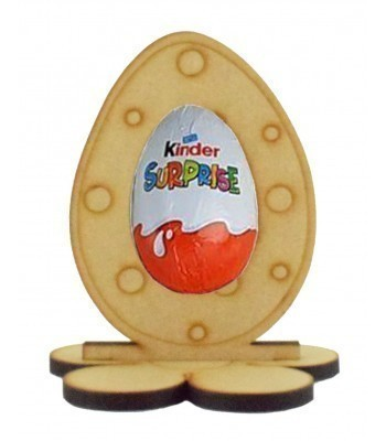 6mm Polka Dot Easter Egg Kinder Egg Holder on a Flower Shape Stand