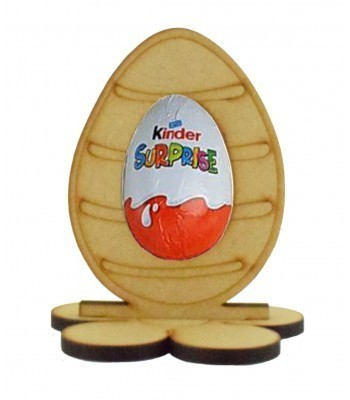 6mm Stripe Easter Egg Kinder Egg Holder on a Flower Shape Stand