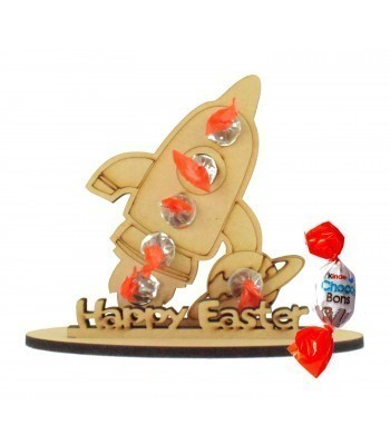 6mm Rocket Shape Kinder Choco Bon Holder on a Stand - Stand Options