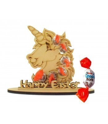 6mm Unicorn Head Shape Kinder Choco Bon Holder on a Stand - Stand Options
