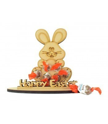 6mm Easter Bunny Shape Kinder Choco Bon Holder on a Stand - Stand Options