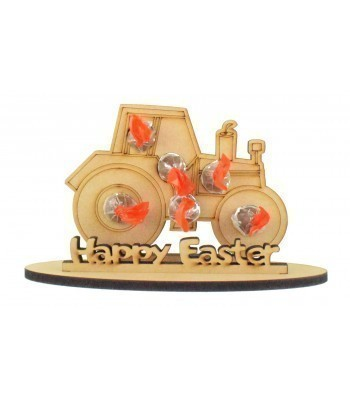 6mm Tractor Shape Kinder Choco Bon Holder on a Stand - Stand Options