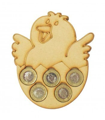 Laser cut Easter Chick £1 Coin Holder