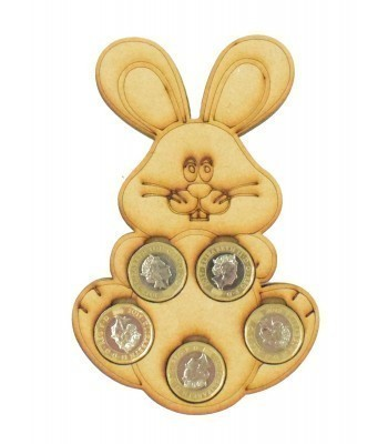 Laser cut Easter Bunny £1 Coin Holder