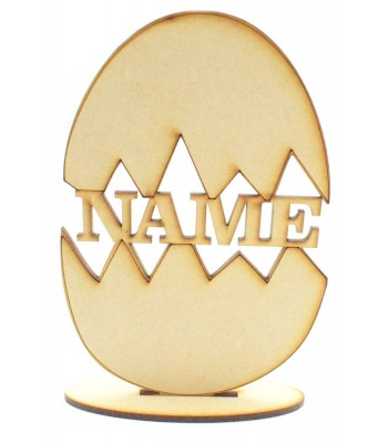 Laser Cut Personalised Easter Egg on a stand