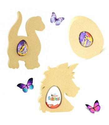 18mm Freestanding Easter CREME EGG and KINDER EGG Holders - Bargain Pack of 30 assorted shapes