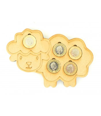 Laser cut Easter Lamb £1 Coin Holder