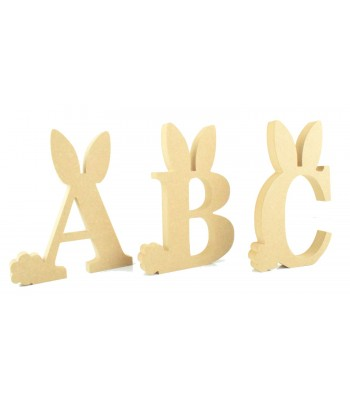 18mm Freestanding wooden Easter Rabbit Letters - BT NEWS - 200mm Height