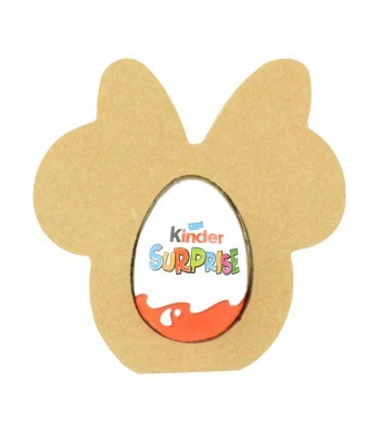 18mm Freestanding Easter KINDER EGG Holder - Mouse Head with Bow