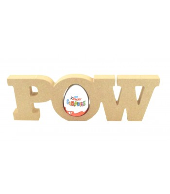 18mm Freestanding 'POW' Comic Book Superhero Word KINDER EGG Holder
