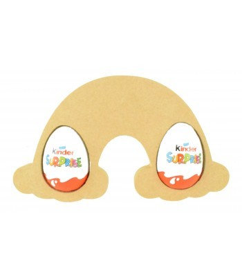 18mm Freestanding Easter KINDER EGG Holder - Rainbow