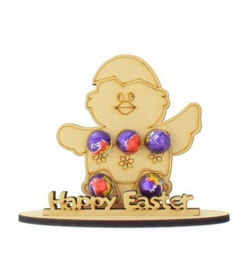 6mm Easter Chick Shape Mini Creme Egg Holder on a Stand - Stand Options