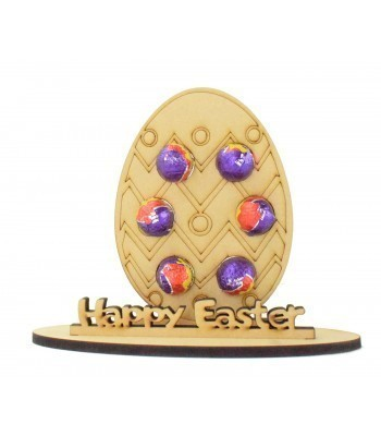 6mm Easter Egg Shape Mini Creme Egg Holder on a Stand - Stand Options