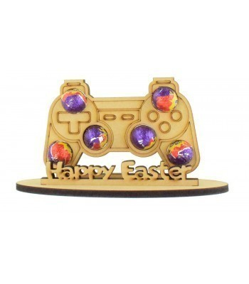 6mm Playstation Controller Shape Mini Creme Egg Holder on a Stand - Stand Options