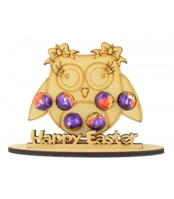 6mm Owl Shape Mini Creme Egg Holder on a Stand - Stand Options