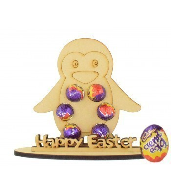 6mm Penguin Shape Mini Creme Egg Holder on a Stand - Stand Options