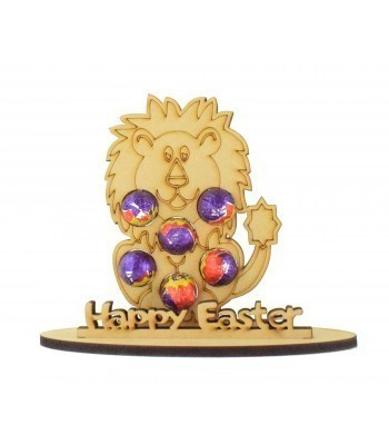 6mm Lion Shape Mini Creme Egg Holder on a Stand - Stand Options