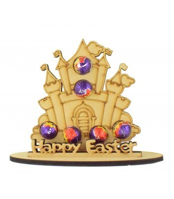 6mm Princess Castle Shape Mini Creme Egg Holder on a Stand - Stand Options