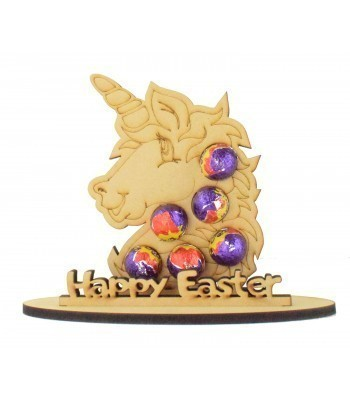 6mm Unicorn Head Shape Mini Creme Egg Holder on a Stand - Stand Options