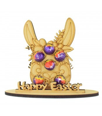 6mm Girl Llama Shape Mini Creme Egg Holder on a Stand - Stand Options