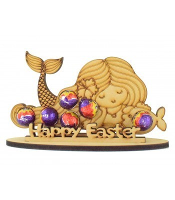 6mm Mermaid Shape Mini Creme Egg Holder on a Stand - Stand Options