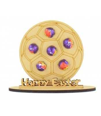 6mm Football Shape Mini Creme Egg Holder on a Stand - Stand Options