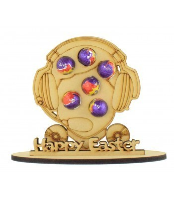 6mm Gaming Head Shape Mini Creme Egg Holder on a Stand - Stand Options