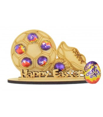 6mm Football with Football Boot Shape Mini Creme Egg Holder on a Stand - Stand Options