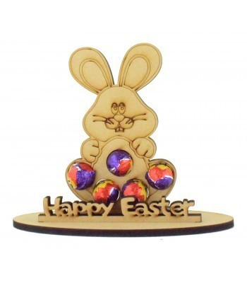 6mm Easter Bunny Shape Mini Creme Egg Holder on a Stand - Stand Options