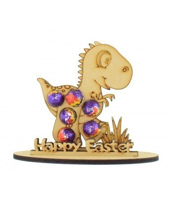 6mm Dinosaur Shape Mini Creme Egg Holder on a Stand - Stand Options