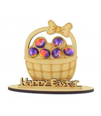 6mm Easter Basket Shape Mini Creme Egg Holder on a Stand - Stand Options