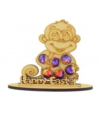 6mm Cheeky Monkey Shape Mini Creme Egg Holder on a Stand - Stand Options