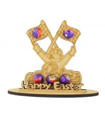 6mm Go-Kart Shape Mini Creme Egg Holder on a Stand - Stand Options