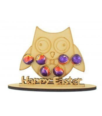 6mm Boy Owl Shape Mini Creme Egg Holder on a Stand - Stand Options