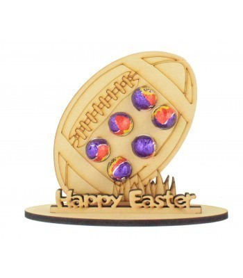 6mm Rugby Ball Shape Mini Creme Egg Holder on a Stand - Stand Options