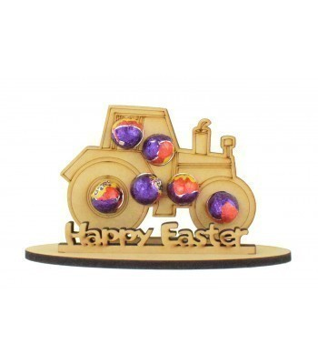 6mm Tractor Shape Mini Creme Egg Holder on a Stand - Stand Options